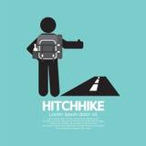Simbolo del turista di Hitchhike Fotografie Stock Libere da Diritti