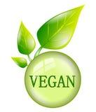Simbolo del vegano isolato Immagine Stock