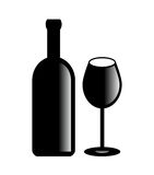 Simbolo del vino di vettore Immagini Stock