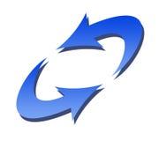 Simbolo dell'aggiornamento Immagini Stock