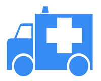 Simbolo dell'ambulanza Fotografia Stock