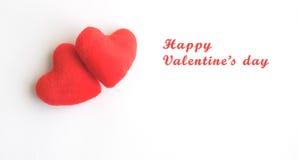 Simbolo dell'amore con due cuori per il giorno del biglietto di S. Valentino Fotografie Stock Libere da Diritti