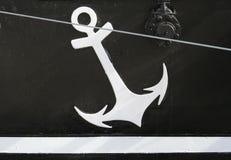 Simbolo dell'ancoraggio Fotografie Stock Libere da Diritti