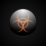 Simbolo dell'arancia di rischio biologico Illustrazione di Stock