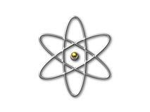 Simbolo dell'atomo con la memoria dell'oro Fotografia Stock