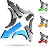 Simbolo dell'azienda. Immagine Stock