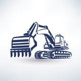 Simbolo dell'escavatore Fotografia Stock Libera da Diritti