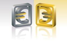 Simbolo dell'euro Fotografia Stock Libera da Diritti