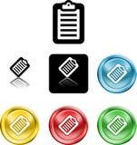 Simbolo dell'icona dei appunti Immagine Stock