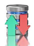 Simbolo dell'icona della base di dati di archiviazione di dati del drive del hard disk Immagini Stock Libere da Diritti