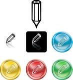 Simbolo dell'icona della matita Fotografie Stock Libere da Diritti