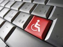 Simbolo dell'icona di accessibilità di web fotografia stock