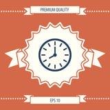 Simbolo dell'icona dell'orologio Immagine Stock Libera da Diritti