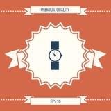 Simbolo dell'icona dell'orologio Fotografia Stock Libera da Diritti