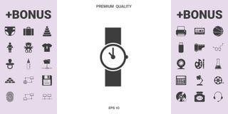 Simbolo dell'icona dell'orologio - elementi grafici per la vostra progettazione Immagine Stock