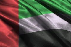 Simbolo dell'illustrazione della bandiera 3D degli Emirati Arabi Uniti, bandiera di nazione dei UAE Fotografia Stock Libera da Diritti