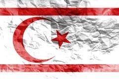 Simbolo dell'illustrazione della bandiera 3D del Cipro Fotografia Stock