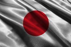 Simbolo dell'illustrazione della bandiera 3D del Giappone , Simbolo dell'illustrazione della bandiera nazionale del Giappone Immagini Stock