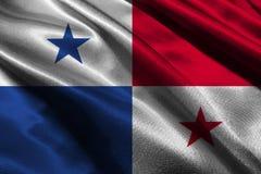 Simbolo dell'illustrazione della bandiera 3D del Panama Bandiera del Panama immagine stock libera da diritti