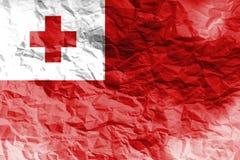 Simbolo dell'illustrazione della bandiera 3D del Tonga Fotografia Stock Libera da Diritti