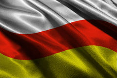 Simbolo dell'illustrazione della bandiera 3D dell'Ossezia del Sud Immagini Stock Libere da Diritti