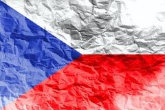 Simbolo dell'illustrazione della bandiera 3D della repubblica Ceca Immagini Stock