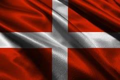Simbolo dell'illustrazione della bandiera 3D di Malta Simbolo dell'illustrazione di Sovrano Militare Ordine di Malta 3D Immagine Stock