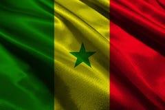 Simbolo dell'illustrazione della bandiera nazionale 3D del Senegal Bandiera del Senegal Fotografia Stock