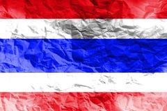 Simbolo dell'illustrazione della bandiera nazionale 3D della Tailandia Fotografia Stock