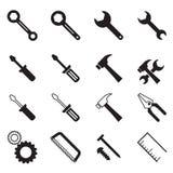 Simbolo dell'illustrazione di vettore della raccolta delle icone dello strumento della costruzione Fotografia Stock