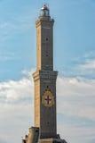Simbolo dell'Italia della città di Lightouse Lanterna Genova Fotografie Stock Libere da Diritti