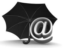 Simbolo dell'ombrello del Internet Fotografia Stock Libera da Diritti
