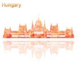 Simbolo dell'Ungheria illustrazione di stock