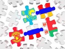 Simbolo dell'unione doganale euroasiatica Immagini Stock