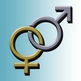 Simbolo dell'uomo e della donna Fotografia Stock Libera da Diritti