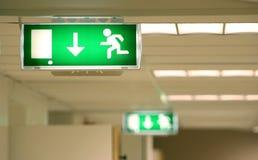 Simbolo dell'uscita di sicurezza Fotografie Stock Libere da Diritti
