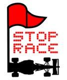 Simbolo della bandiera rossa Immagini Stock Libere da Diritti