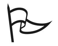 Simbolo della bandierina Fotografia Stock Libera da Diritti