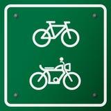 Simbolo della bici Fotografia Stock