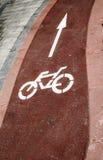 Simbolo della bicicletta Fotografia Stock