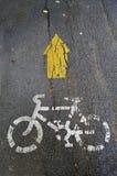 Simbolo della bicicletta Fotografia Stock Libera da Diritti