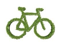 Simbolo della bicicletta dell'erba Fotografie Stock Libere da Diritti