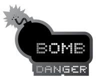 Simbolo della bomba del pericolo Immagine Stock