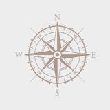 Simbolo della bussola della rosa dei venti Fotografia Stock Libera da Diritti