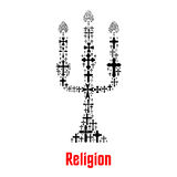 Simbolo della candela di religione degli incroci di Cristianità royalty illustrazione gratis