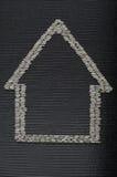 Simbolo della casa di riso Fotografia Stock Libera da Diritti