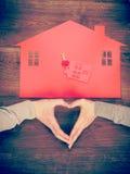 Simbolo della casa e del cuore Immagine Stock