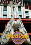 Simbolo della chitarra dell'hotel del hard rock a Singapore Immagine Stock Libera da Diritti