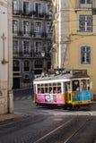 Simbolo della città del tram di Lisbona fotografia stock