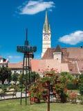 Simbolo della città della Romania di mezzi fotografia stock libera da diritti